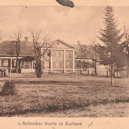 Vienā vācu saitā atrasta 1917.gada Vārenbrokas muižas bilde. Paldies Ivetai Schwaggini par